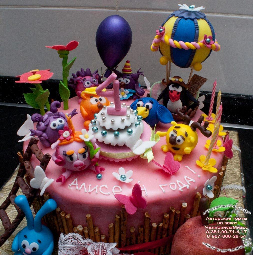Детские торты. торт смешарики. детский торт смешарики в челябинске.