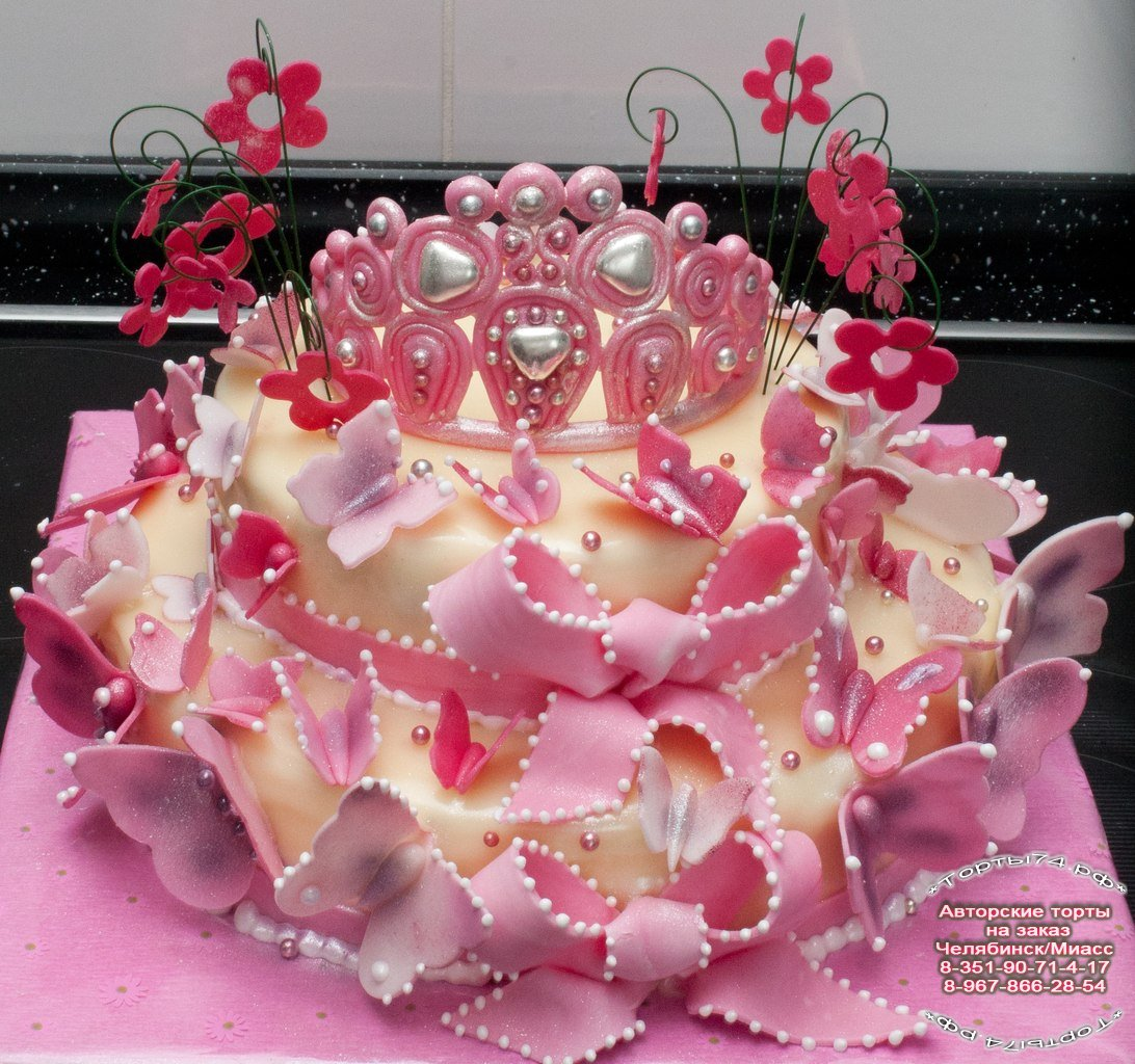 Детский торт торт с короной источник