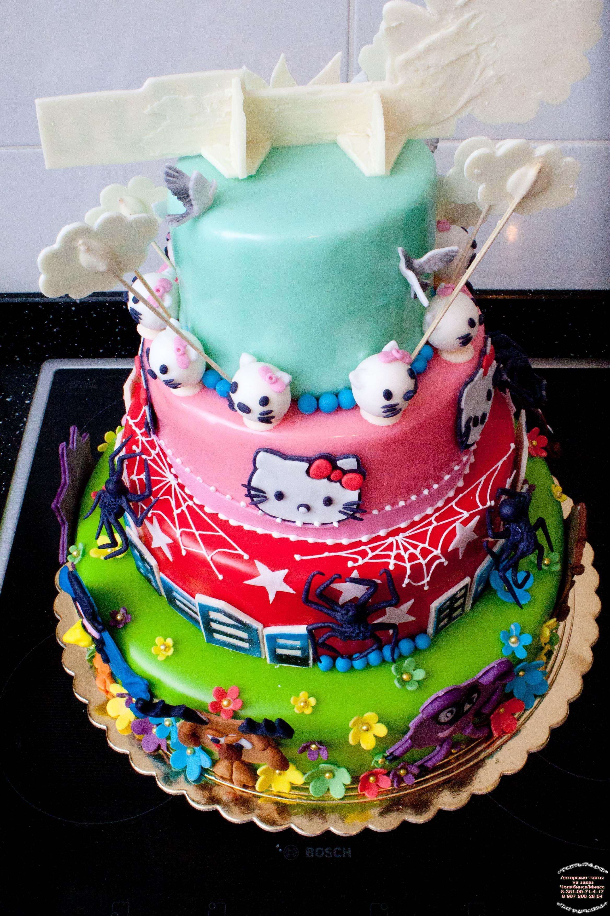 Торт на детский праздник с фото 163