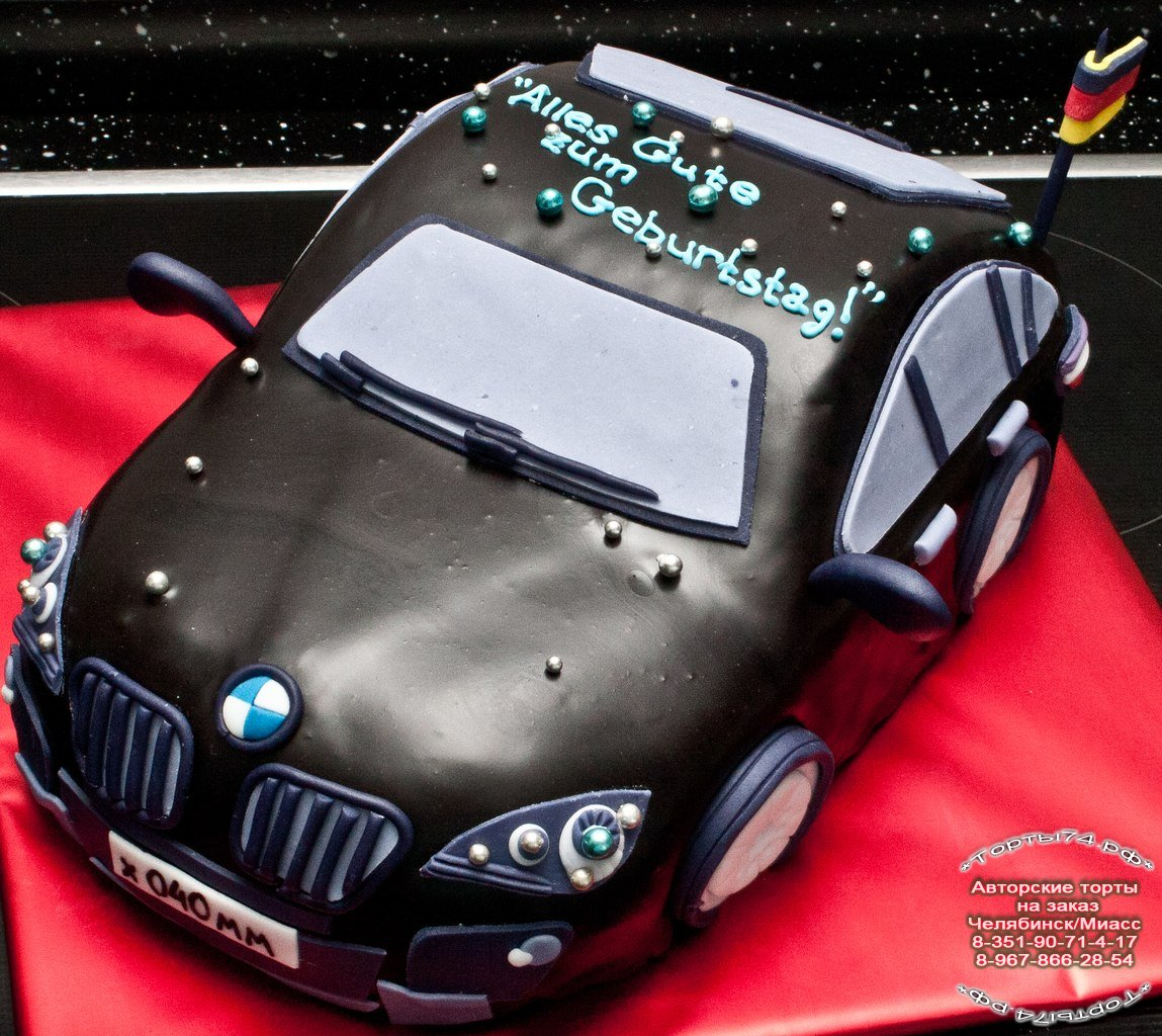 Торт в виде машины фото 7