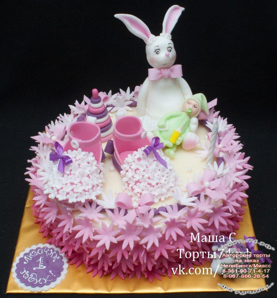 Детский торт торт с зайцем и
