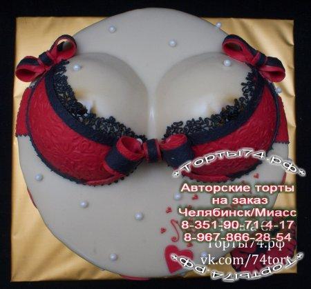 Торт в форме женского бюста фото