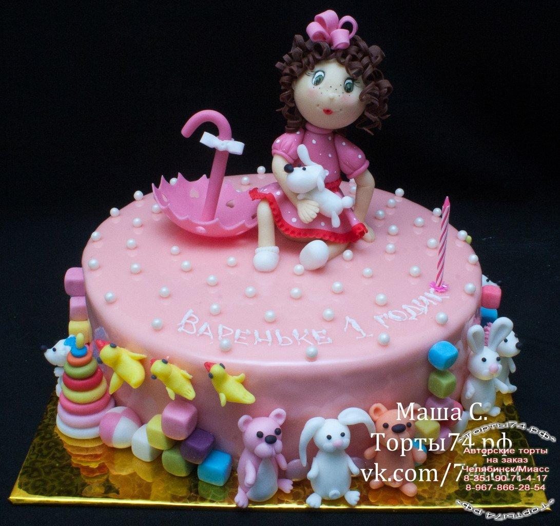 Торт на годик своими руками фото